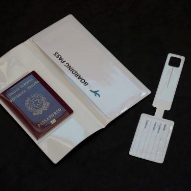 etiquette valise porte badge